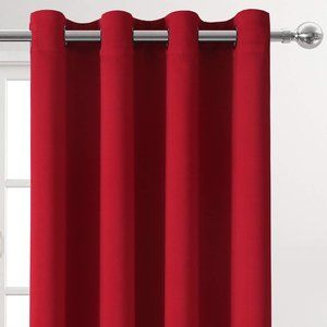 "84"" x 52"" 100% Blackout Curtains Red"